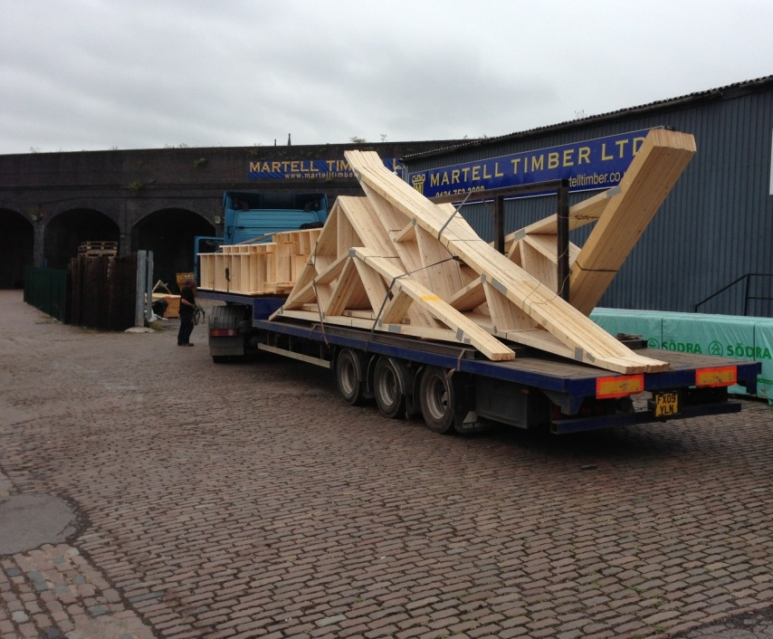 Gable ladders and trusses.