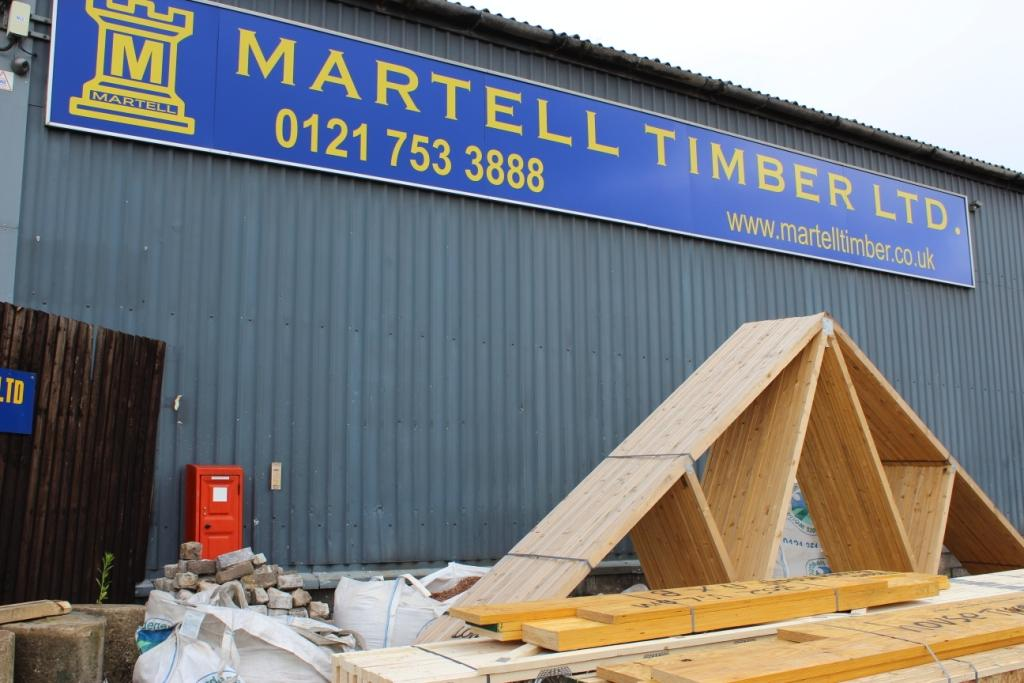 Roof trusses and glulam.